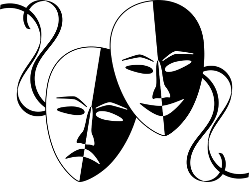 comedy and tragedy masks-publicdomainvectors.org-wasat-Theatre-Masks