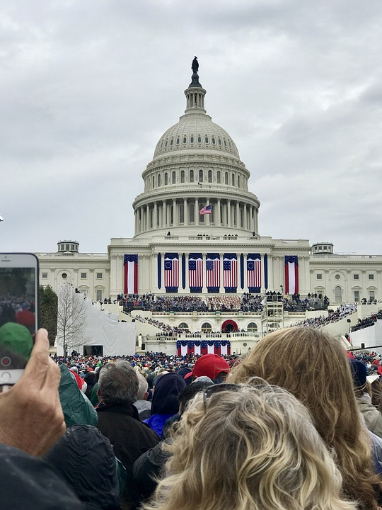 U.S. Capitol Building during a presidential inauguration