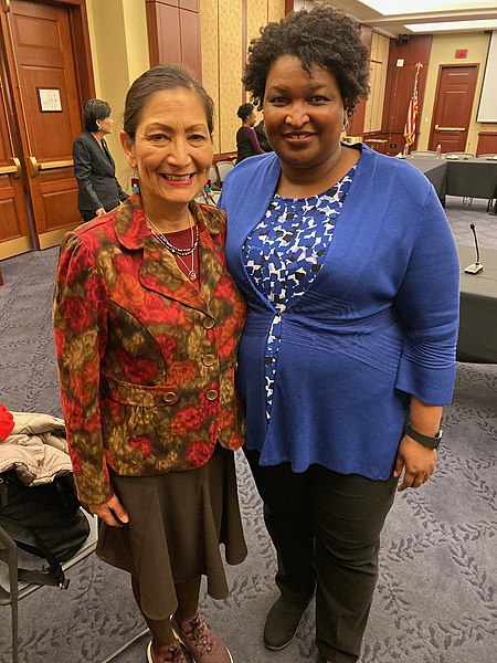 Women's History Month 2021 - Deb_Haaland_and_Stacey_Abrams_in_2019